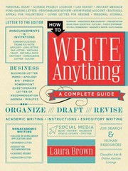 How to Write Anything 1st Edition 9780393240146 0393240142