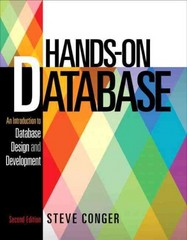 Hands-On Database 2nd Edition 9780133024418 0133024415