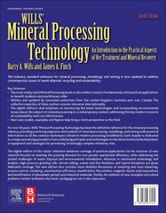 Wills' Mineral Processing Technology 8th Edition 9780080970530 0080970532