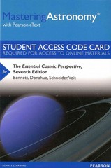 MasteringAstronomy with Pearson eText -- Standalone Access Card -- The Essential Cosmic Perspective 7th Edition 9780321928726 0321928725