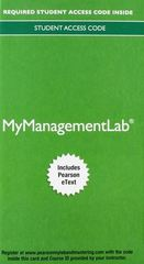 2014 MyManagementLab with Pearson eText -- Access Card -- for Strategic Management 15th Edition 9780133451832 0133451836
