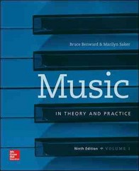 Music in Theory and Practice Volume 1 9th Edition 9780078025150 007802515X