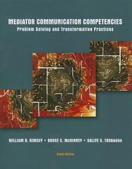 Mediator Communication Competencies 6th Edition 9781269135818 1269135813