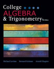 College Algebra and Trigonometry 6th Edition 9781602298804 1602298807