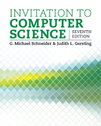 Invitation to computer science 7th edition textbook solutions invitation to computer science 7th edition view more editions stopboris Image collections