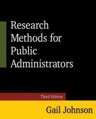 Research Methods for Public Administrators 3rd Edition 9780765637147 0765637146