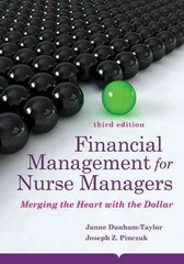 Financial Management for Nurse Managers: Merging the Heart with the Dollar 3rd Edition 9781284031034 1284031039