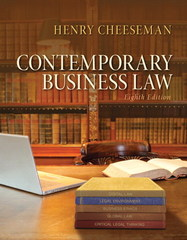 Contemporary Business Law 8th Edition 9780133578164 013357816X