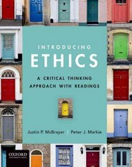 Introducing Ethics 1st Edition 9780199793785 0199793786