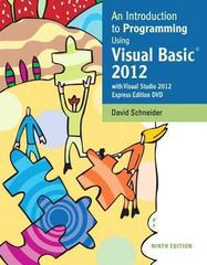Intro to Programming Using Visual Basic 2012 plus MyProgrammingLab with Pearson eText -- Access Card Package 9th Edition 9780133450866 0133450864