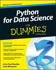Python for Data Science For Dummies 1st Edition 9781118844182 1118844181