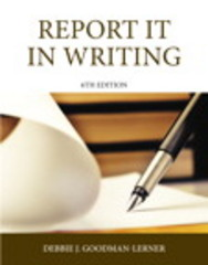 Report It in Writing 6th Edition 9780133483185 0133483185