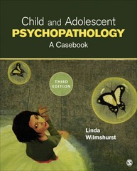 Child and Adolescent Psychopathology 3rd Edition 9781452242323 1452242321