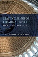 Making Sense of Criminal Justice 2nd Edition 9780199314133 0199314136