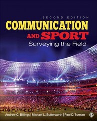 Communication and Sport 2nd Edition 9781452279138 1452279136