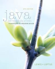 Java Software Solutions 8th Edition 9780133594959 0133594955