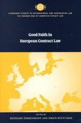 Good Faith in European Contract Law 0 9780521771900 0521771900