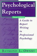 Psychological Reports 3rd Edition 9780471168874 0471168874