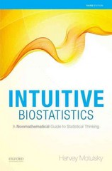 Intuitive Biostatistics 3rd Edition 9780199946648 0199946647