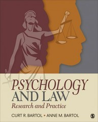 Psychology and Law 1st Edition 9781483312521 1483312526