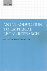 An Introduction to Empirical Legal Research 1st Edition 9780199669066 0199669066