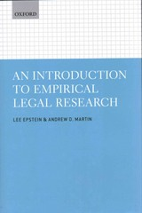 An Introduction to Empirical Legal Research 1st Edition 9780191646546 0191646547