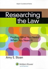 Researching the Law 1st Edition 9781454842514 1454842512