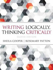 Writing Logically Thinking Critically 8th Edition 9780321926524 0321926528