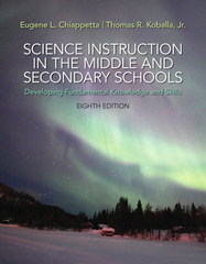 Science Instruction in the Middle and Secondary Schools 8th Edition 9780133752427 0133752429