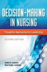 Decision-Making in Nursing 2nd Edition 9781284026184 1284026183