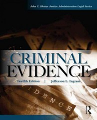 Criminal Evidence 12th Edition 9781317523307 131752330X
