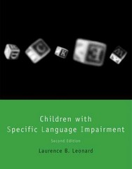 Children with Specific Language Impairment 2nd Edition 9780262027069 0262027062