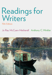 Readings for Writers 15th Edition 9781305087866 1305087860