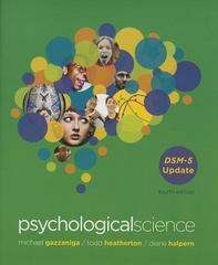 Psychological Science 1st Edition 9780393937824 0393937828