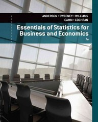 Essentials of Statistics for Business and Economics 7th edition 9781305081598 1305081595