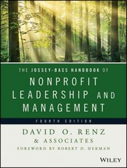 The Jossey-Bass Handbook of Nonprofit Leadership and Management 4th Edition 9781118852965 1118852966