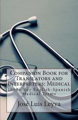 Companion Book for Translators and Interpreters: Medical 1st Edition 9781493528592 1493528599