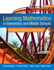 Learning Mathematics in Elementary and Middle School 6th Edition 9780133519211 013351921X