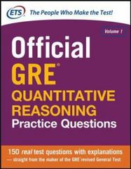 Official GRE Quantitative Reasoning Practice Questions 1st Edition 9780071834315 0071834311