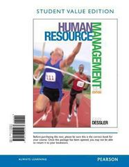 Human Resource Management, Student Value Edition 14th Edition 9780133545463 0133545466