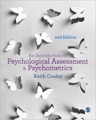 An Introduction to Psychological Assessment and Psychometrics 2nd Edition 9781446267158 1446267156