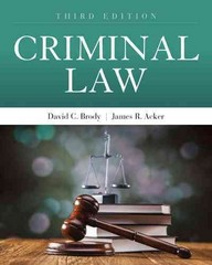 Criminal Law 3rd Edition 9781449698447 1449698441