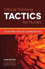 Critical Thinking TACTICS for Nurses 3rd Edition 9781284041422 1284041425