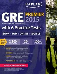 GRE Premier 2015 with 6 Practice Tests 1st Edition 9781618656230 1618656236