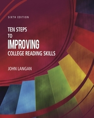 Ten Steps to Improving College Reading Skills 6th Edition 9781591944232 1591944236