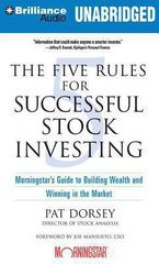The Five Rules for Successful Stock Investing 1st Edition 9781480589940 1480589942