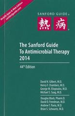 The Sanford Guide to Antimicrobial Therapy 2014 44th Edition 9781930808782 193080878X