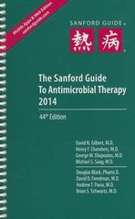 The Sanford Guide to Antimicrobial Therapy 2014 44th Edition 9781930808799 1930808798