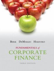 Fundamentals of Corporate Finance 3rd Edition 9780133507676 013350767X
