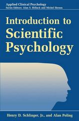 Introduction to Scientific Psychology 1st Edition 9781489918956 1489918957